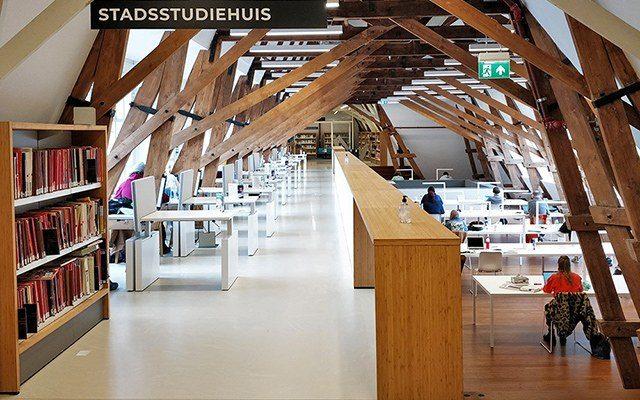 Utrecht bibliotheek boekenkasten