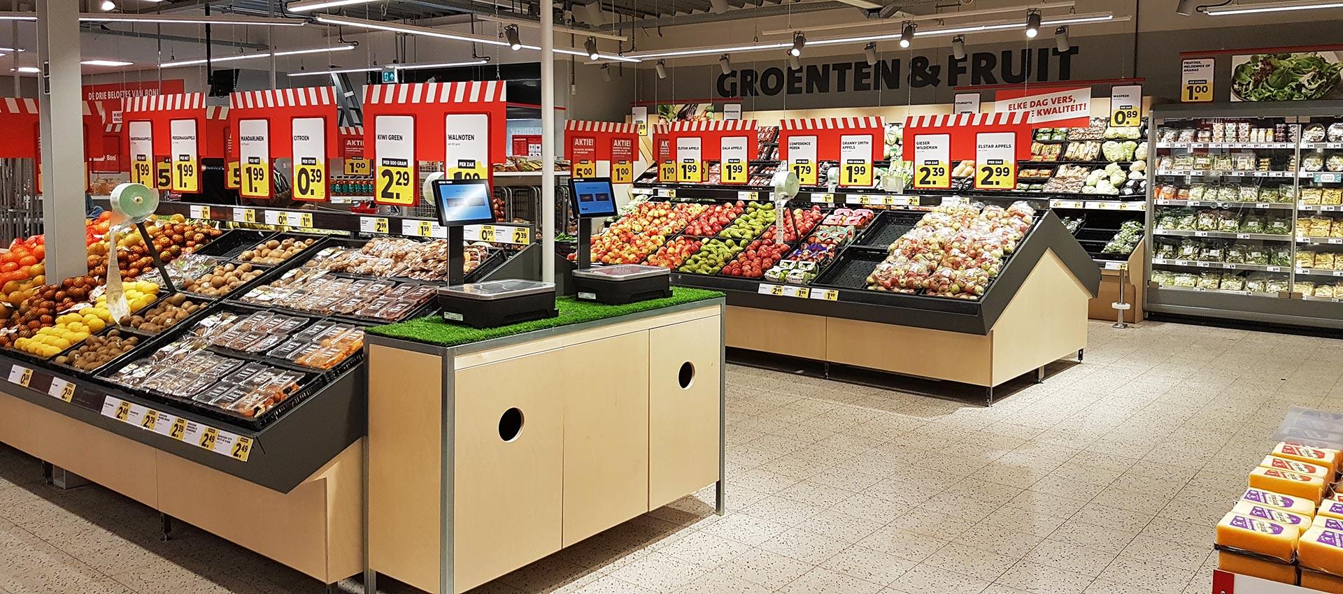 Supermarkt inrichten