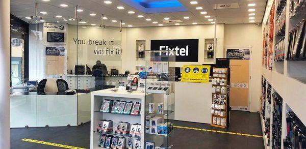 Fixtel inrichting telefoonwinkel